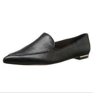 Ivanka Trump Zariner Black Leather Slip On Loafers